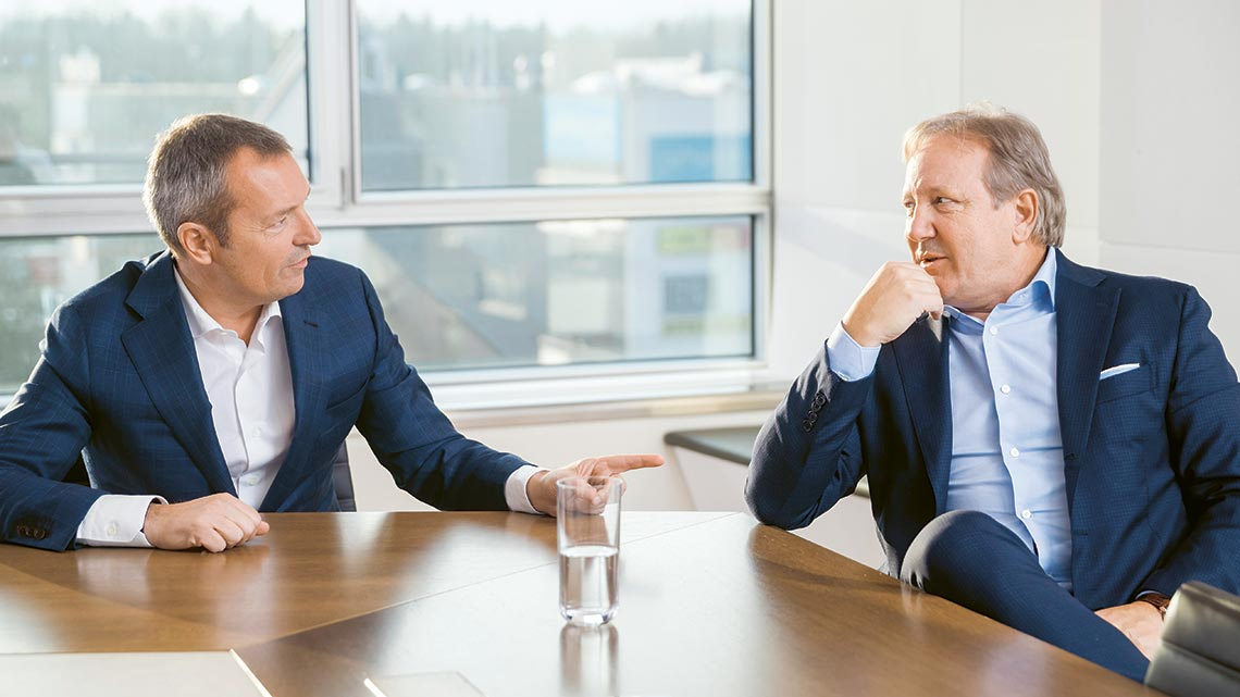 André Wyss, CEO, and Hans Ulrich Meister, Chairman of the Board of Directors