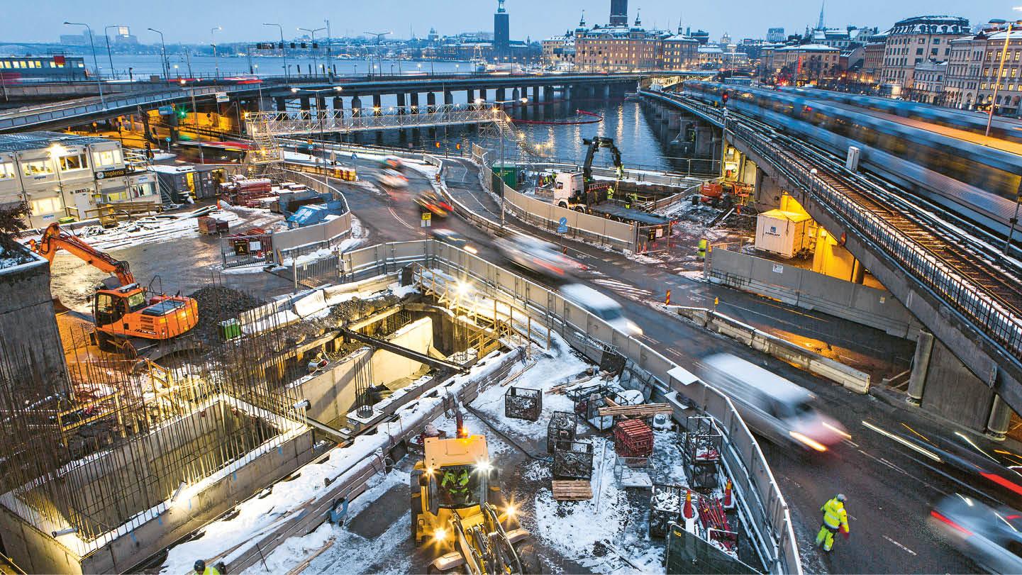Slussen SN 843, Stockholm - Implenia | Annual report 2018